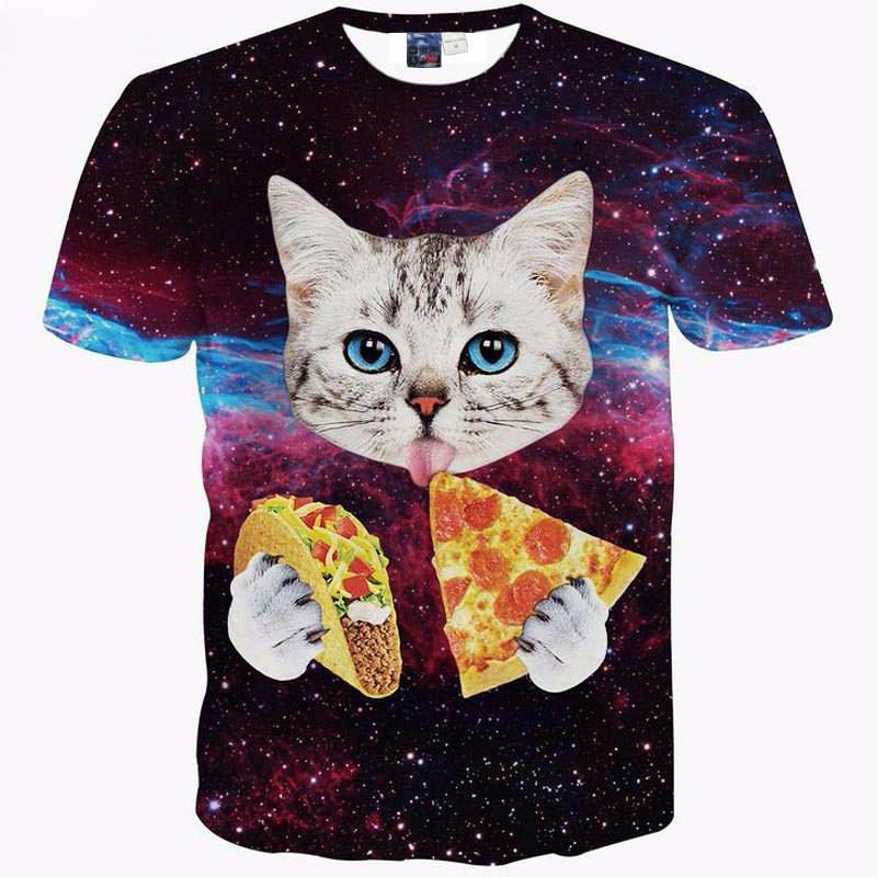 2018 New Fashion cat 3D printing t shirt