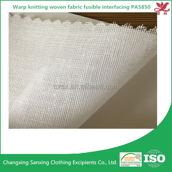 Warp knitting woven fabric fusible interfacing PA5850