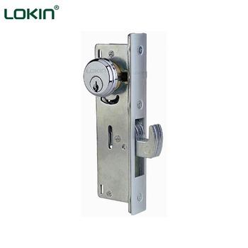China Supplier Double Cylinder Hook Bolt Sliding Aluminium Door Lock Set