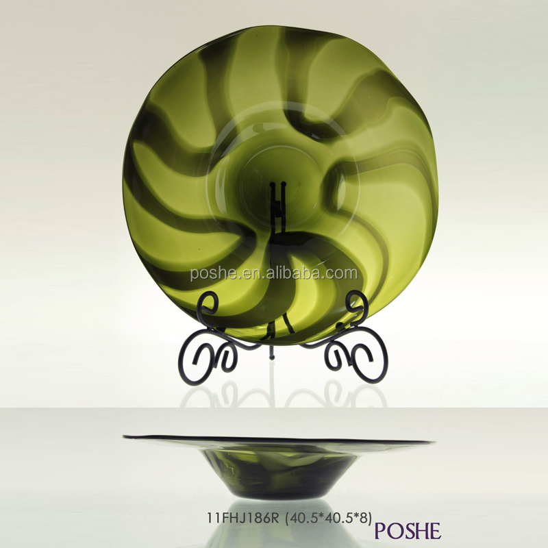 Popular hand blown customized decoration wholesale art glass handicraft