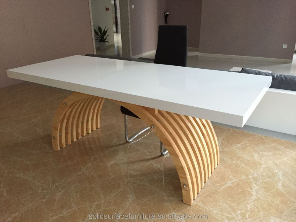 High End Company Prefer White Modern Manager Office Table Design ...