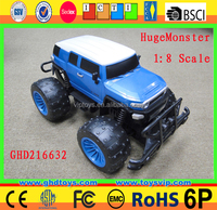 1:8 4CH RC big size monster truck ABS Metal battery power car with head lights