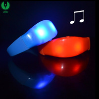Plastic Motion Activated /Music Activated Led Bracelet, LED Flashing Bracelet, Giveaways for Weddings