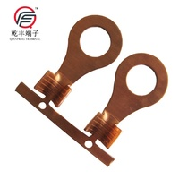 ISO9001 Factory Price RNB1.25-6S uninsulated ring crimp terminals (copper material 0.75mm)