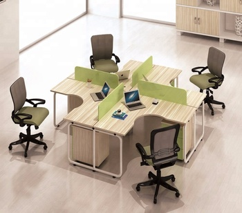 Modern 4 Seat Office Workstation Design Small Office Cubicle Buy Modern 4 Seat Office Workstation Design Small Office Cubicle Wooden Screen Office Partition Desk Divider 4 Seater Workstation High Quality White Work Station
