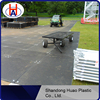 Wear resistance HDPE plastic floor pads/ground protection mats/temporary plastic road mats