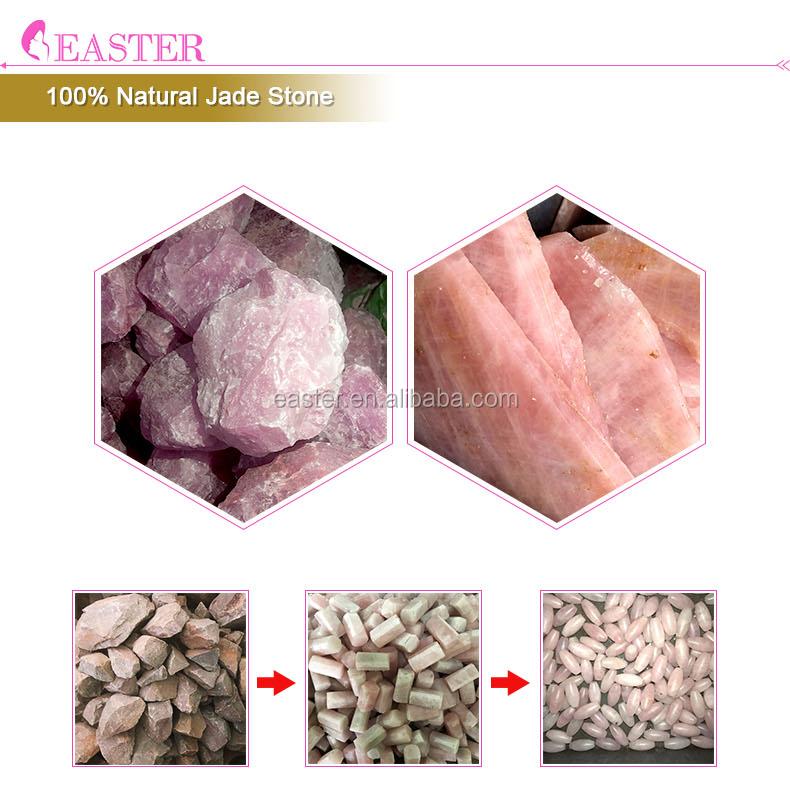 天然水晶石顔ローラーローズクォーツホットストーンセット