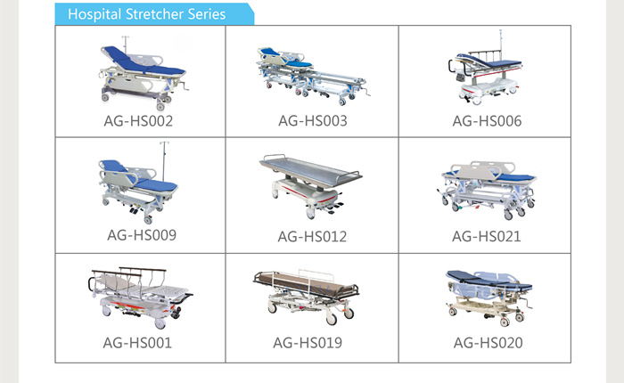 AG-HS008 hospital medical manual ambulance patient hydraulic transfer stretcher price dimensions