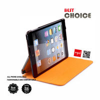 Shock proof leather case for ipad tablet accessories with typing and viewing stand