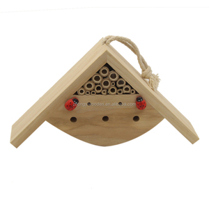 china factory FSC&BSCI garden tree hanging Wooden bee bug House Hotel shelter carriers