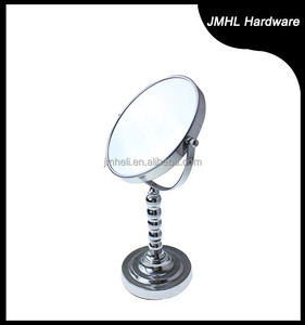 2015 7inch bathroom ball chain stem chrome flexible mirror for cosmetic