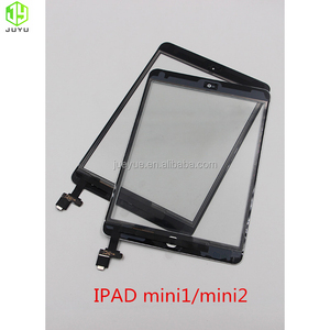 white black LCD screen touch for ipad mini 1/2 LCD with adhesive