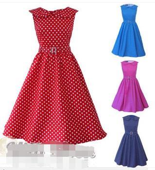 7fe93dafb15d Donne Vintage 1950 s Senza Maniche abiti rockabilly pin up retro  abbigliamento