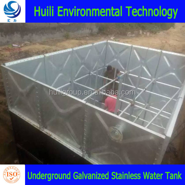 large volume sectional galvanized stainless modular panel underground water tank