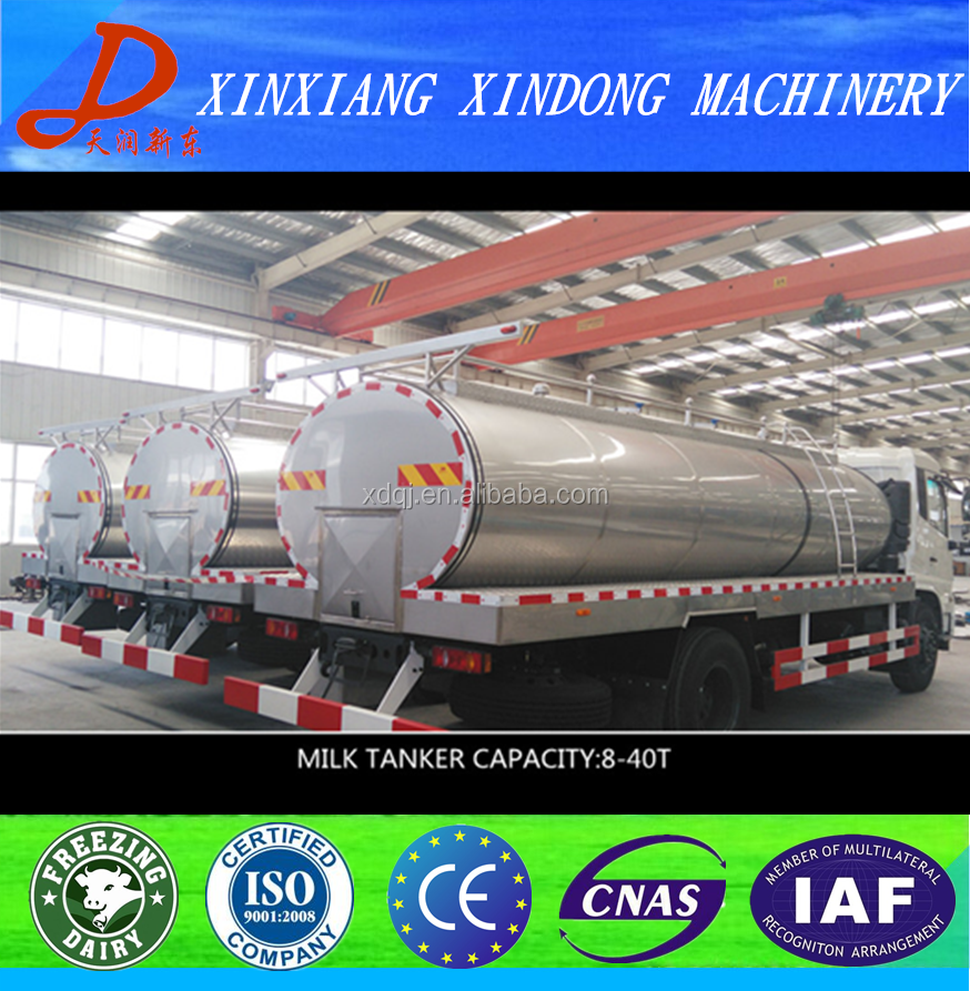 S.S 304 road milk tanker trailer for fresh milk transportation