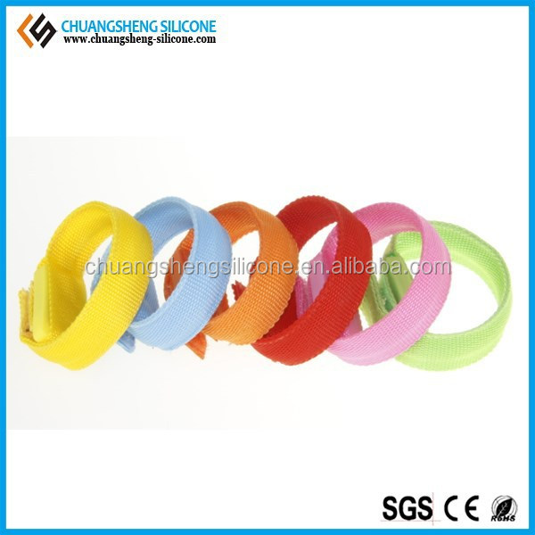 LED lighting Nylon bracelet wristbands bangles