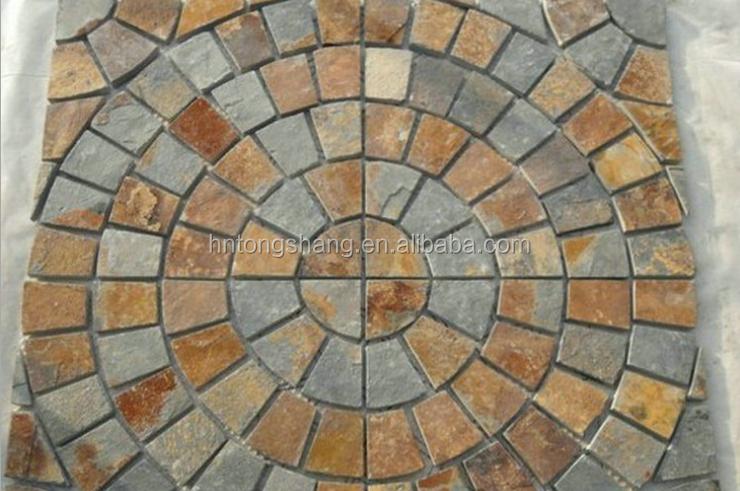 Ventaglio ardesia maglie di pietra per esterni piastrelle