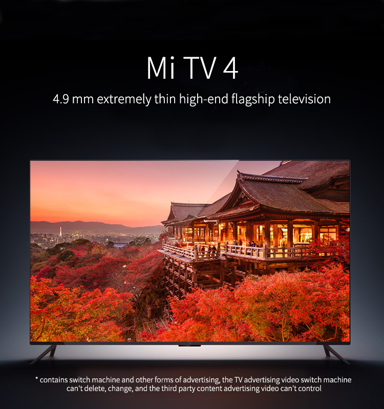 Cheapest Hot Selling Xiao mi TV 4 Remote Control Mi TV Smart TV 55 Inch HD Real 4K LED 2GB RAM 8GB ROM