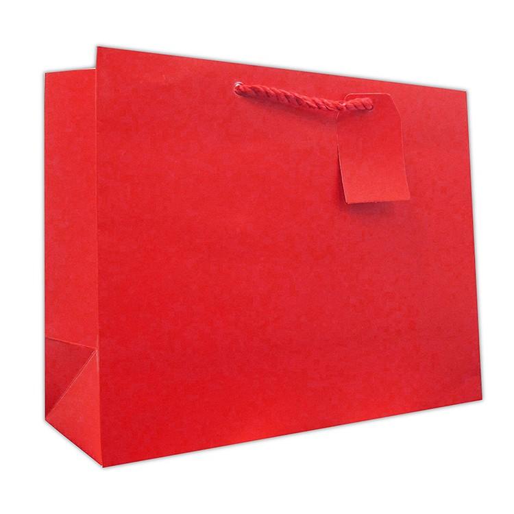 Fabricamos amarelo reciclado cortou o saco de papel kraft Para O varejo