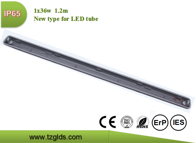 New 1x18W waterproof lamp tri-proof lighting fixture for LED <strong>tube</strong>