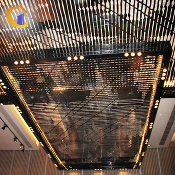 Restaurant Stainless Steel Hanging Decors Plafond Indoor Decorative Panel ceiling.
