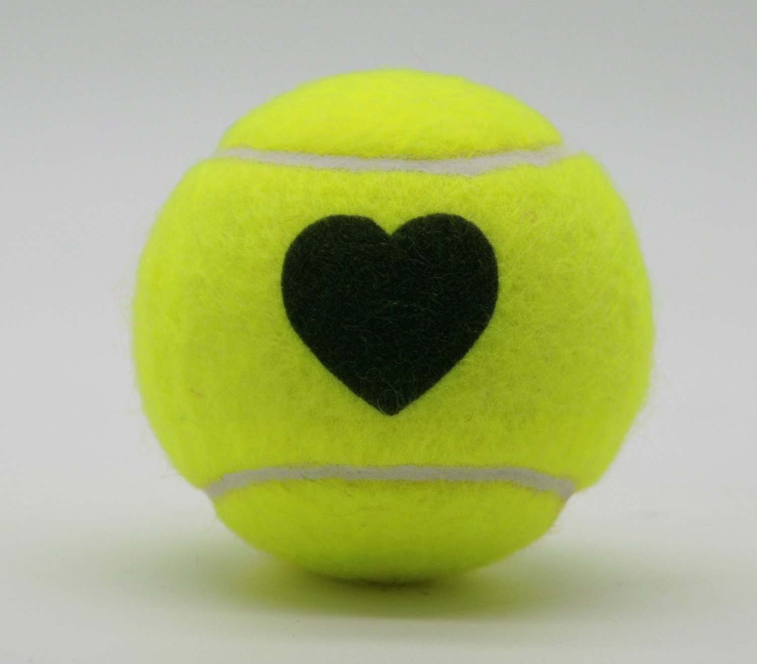 Price's Heart Motif Type 2 Tennis Balls Made in the UK (1 x 3 Ball Tube) Yellow, pressureless, durable and long lasting.