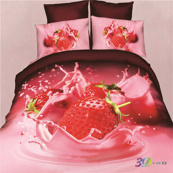 Bedding Set 100% Cotton 3d Bed Cover Flower Printed Bedsheets