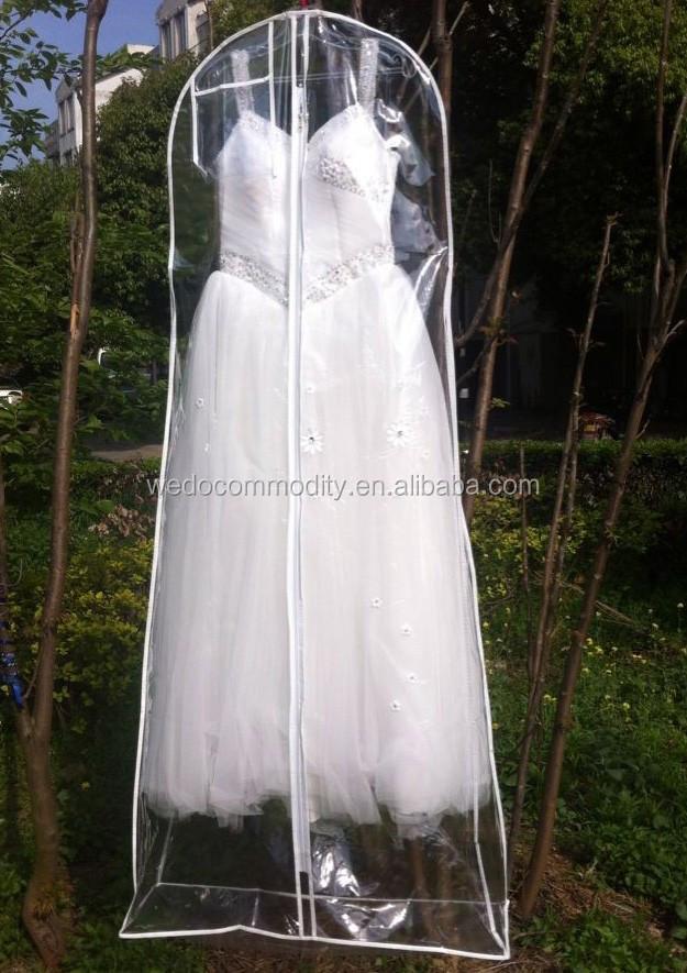 e84bd97514ad0 Pvc transparente de la cubierta del vestido de boda claro vestido de noche  cubierta vestido largo