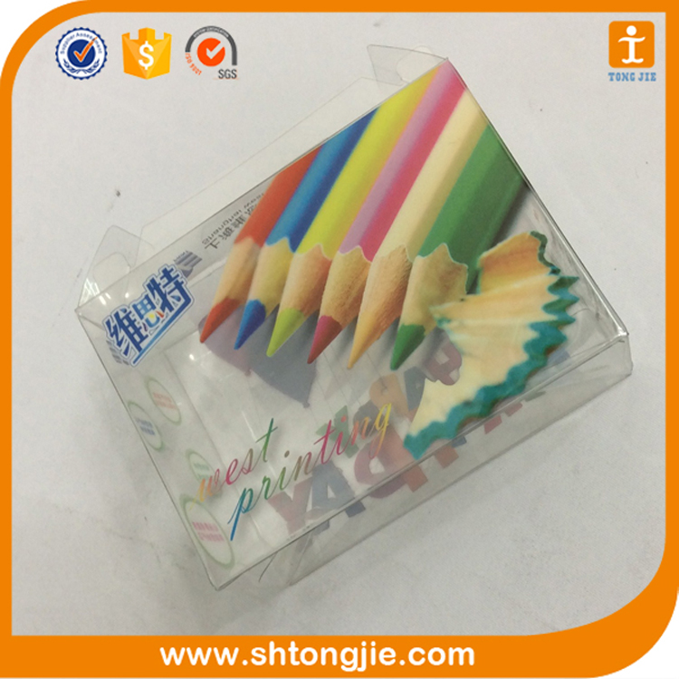 gift craft soft crease offset printed colorful transparent hard plastic box