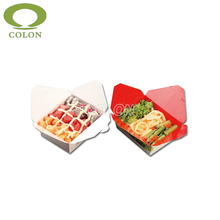 Customized eco-friendly lunch snack packaging box for airplane