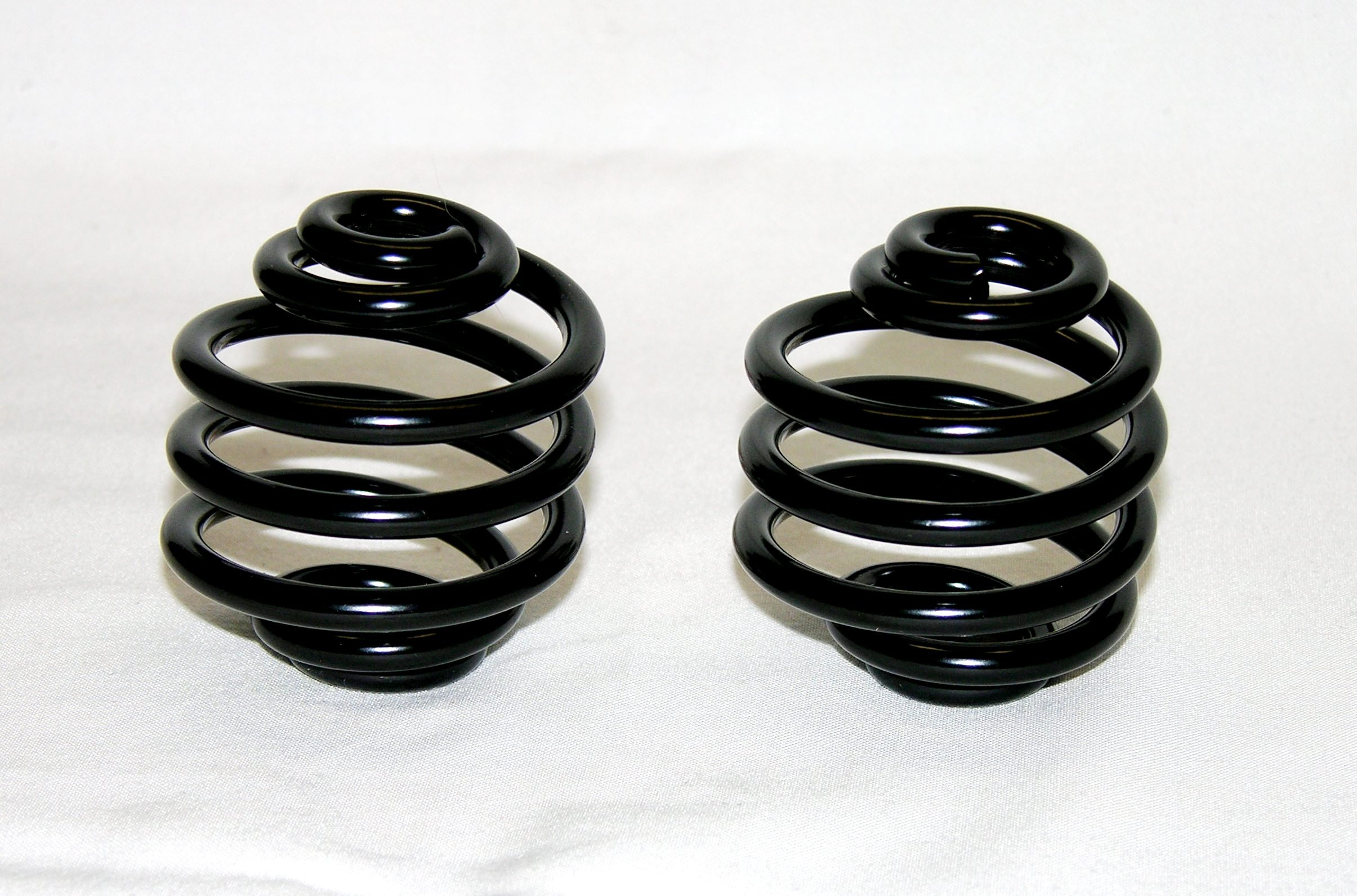 Mr Luckys Universal Fit Black Powder Coated 2 inch Solo Seat Springs for Harley, Bobber, Vintage, Retro, Custom.