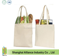 Promotional Blank Natural Cotton Tote Bags / Cotton Bag with long handle