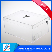 2017 clear acrylic/ perplex/ plastic shoes display cases for sale