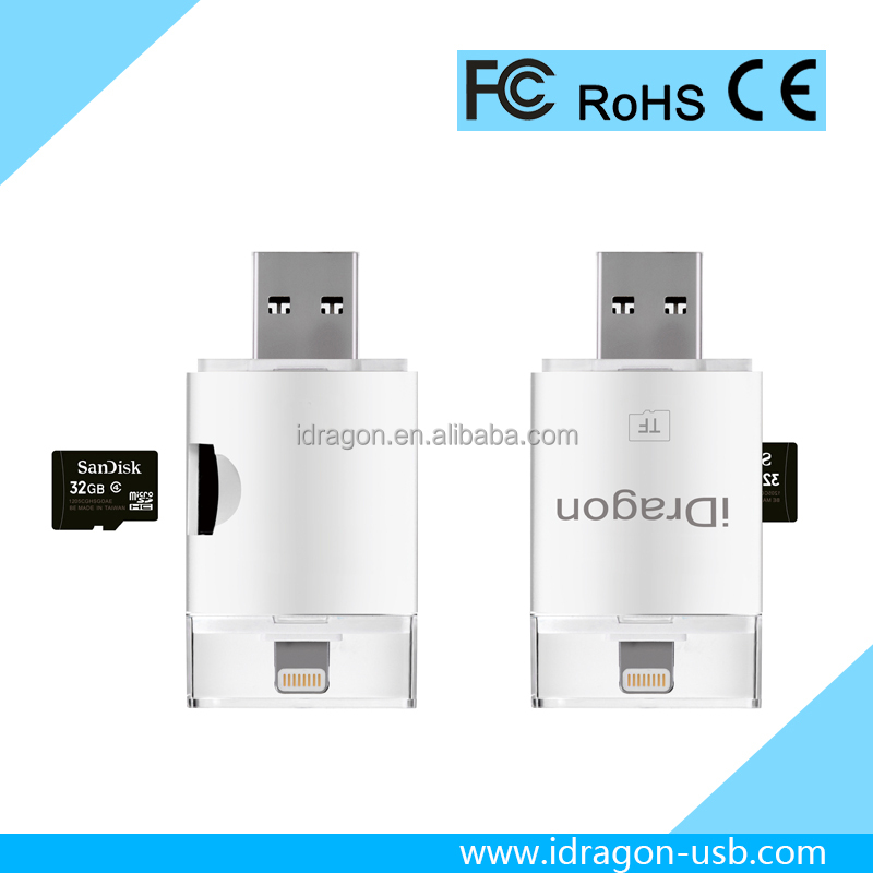 High Quality Micro Usb mobile Smart Card Reader for iphone 6/7