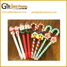 Promotional Customized Santa polymer clay ball point pen