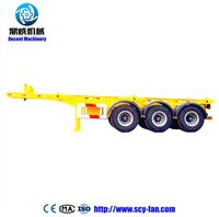 Promotional price double Axles flat-bed semi trailer/semi-trailer/truck trailer/remorque for sale