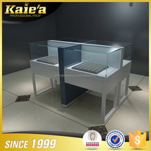 Antique modern glass ring display showcase for jewelry shop mall