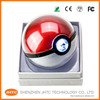 New products 12000mah portable pokeball Pokemon go ball powerbank charger for samsung galaxy s7 iphone 6 7 mobile phone gift