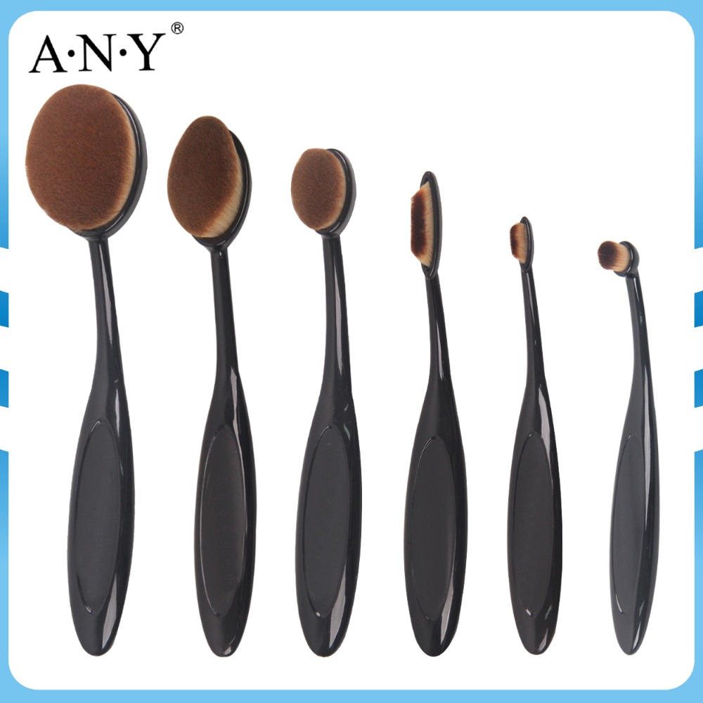 ANY 6 pcs Oval Makeup Brush, Make <strong>up</strong> Brushes, Oval Toothbrush Makeup Brush <strong>Set</strong>