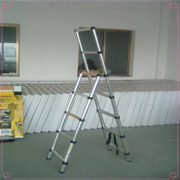 Aluminio plegable escalera escalera de aluminio correderas for Escalera aluminio plegable