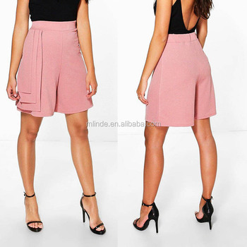 a613cb550 Women Fashion Short Pants Trousers Women s Lovely Elegant Tiered Stretchy  Shorts with Elasticized Waistband Tiered Shorts