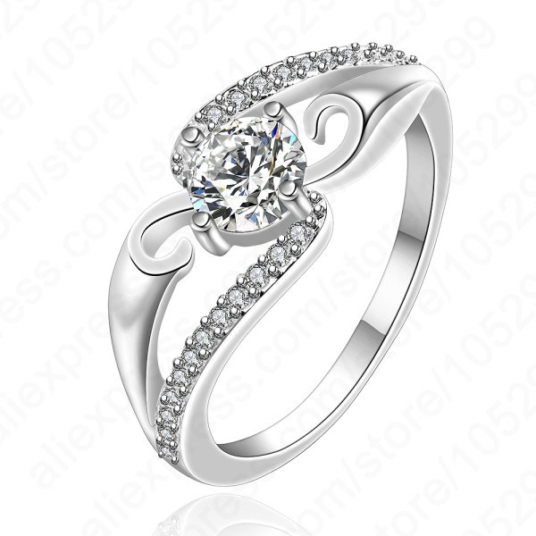 Free Shipping Best Quality 925 Sterling Silver Ring Cubic