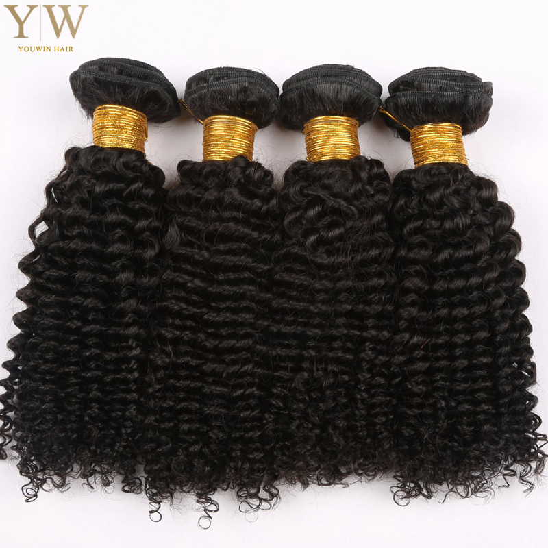 Peruvian Virgin kinky Curly Hair  4Bundles 100% Unprocessed Peruvian kinky curly Grade 6A Peruvian Human Curly Hair