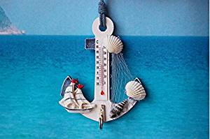 CCWY A rustic Mediterranean style wooden boat anchorage small thermometer hooks for hanging ornaments Crafts