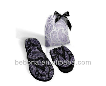 549180860 New Arrival Women Travel Foldable Slippers With Carrying Case - Buy ...