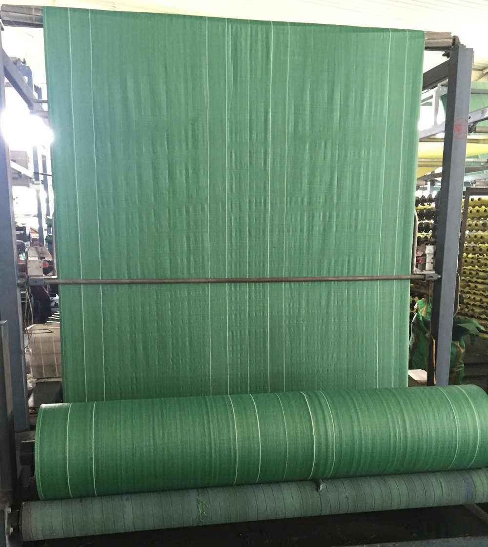 Transparent laminated woven PP fabric rolls for producing rice fertilizer sacks
