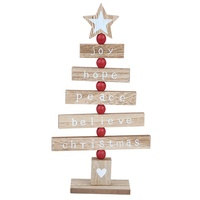 Generic Wooden Christmas Tree Decoration Handpainting