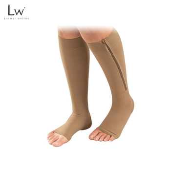 LW-B126  zip sox zipper compression socks zip sock