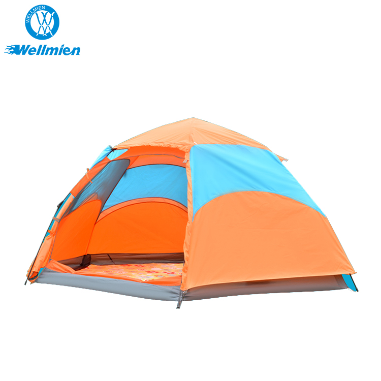 6 Person Foldable Large Waterproof Polyester 4 Season Automatic Hiking <strong>Tent</strong>