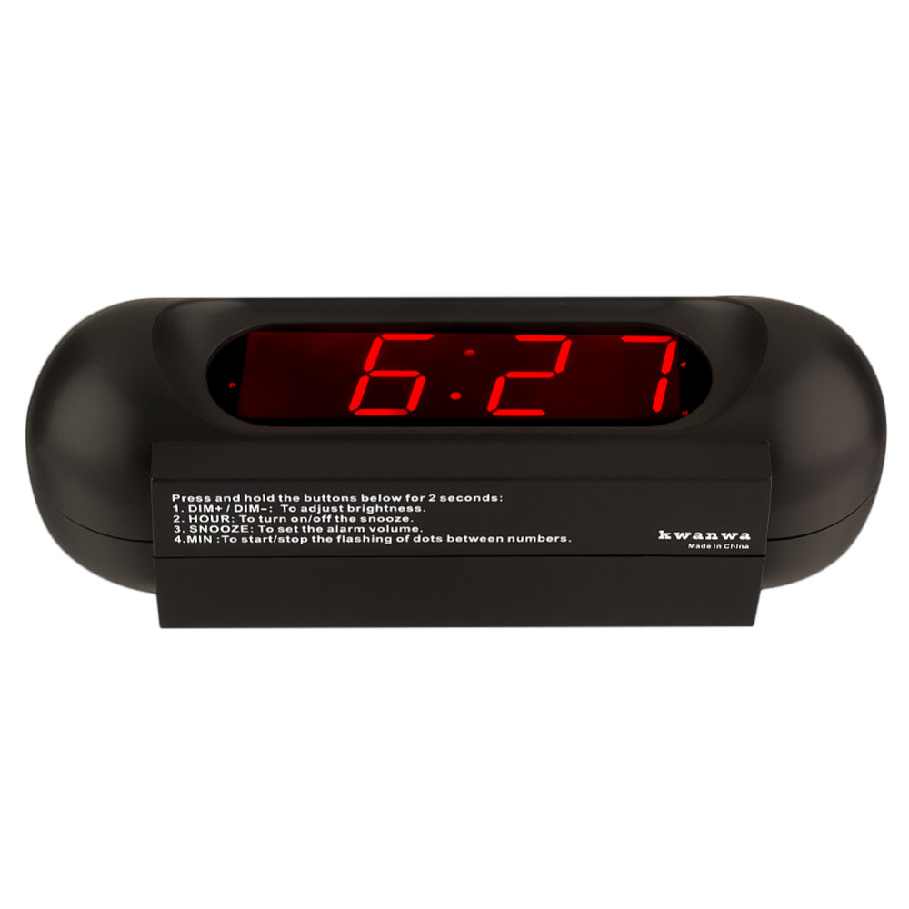 142d05e60665 Kwanwa 110db super loud alarm clock for heave sleeper with large LED  display and and operated
